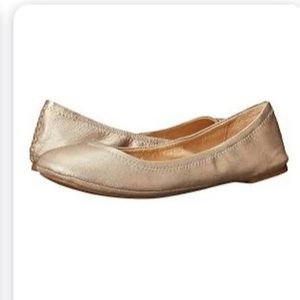 Lucky Brand Emmie Gold Leather Ballet Flat 8